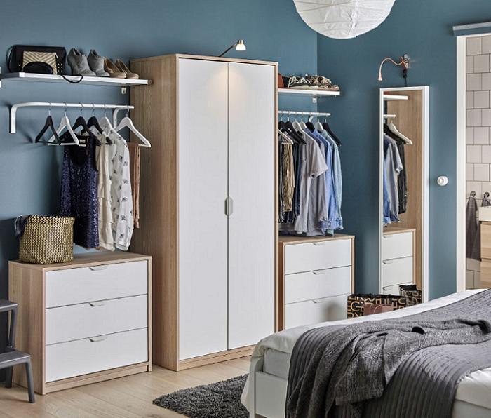 como hacer un vestidor ikea-pequeño en la habitacion