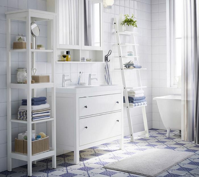 estanterias baño ikea madera escalera