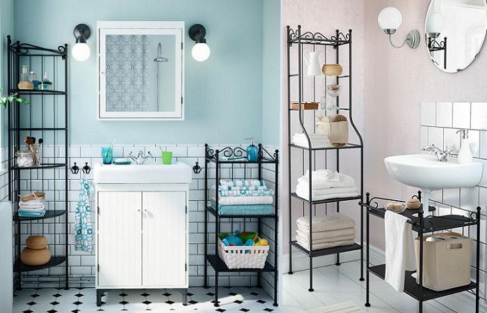 estanterias de ba o para toallas
