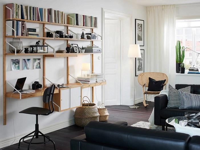 salones modernos ikea con escritorio vertical