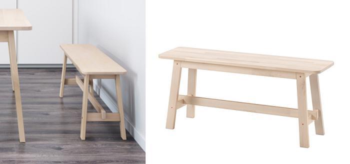 Bancos de madera ikea baratos mueblesueco for Bancos de jardin precios