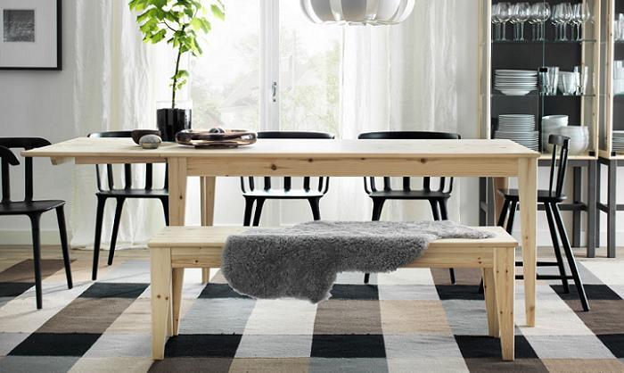 Bancos de madera Ikea para el recibidor, salón, comedor, jardín ...