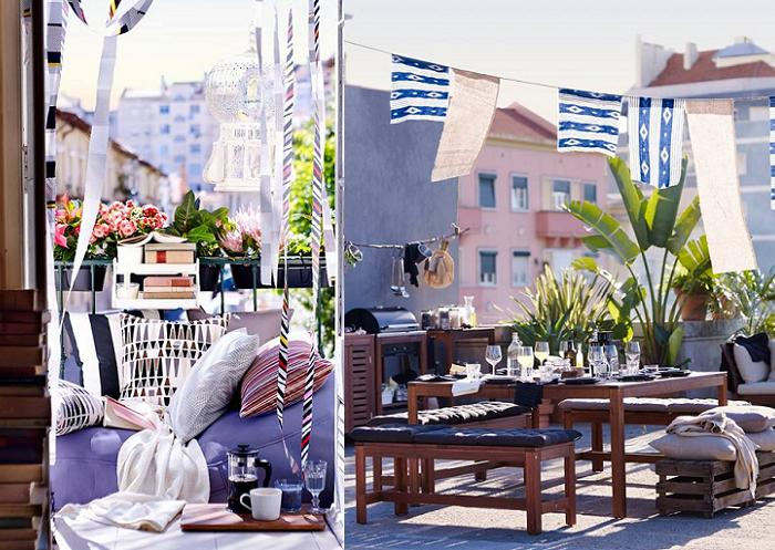 Mobiliario terraza ikea amazing best dnde conseguir for Sofas terraza ikea