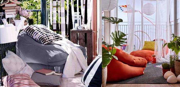 BUSSAN, el nuevo puff Ikea exterior para jardín y terraza