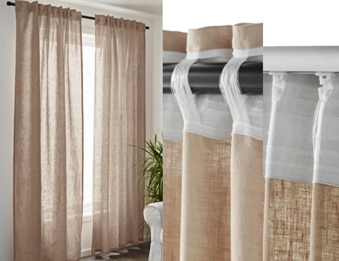 cortinas ikea salon AINA
