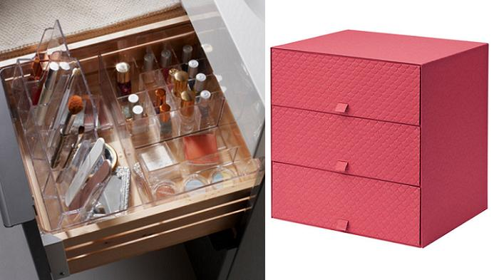 Organizador de maquillaje ikea interior cajones mueblesueco for Ikea organizador cajones cocina