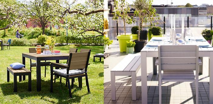 Bancos de jardin ikea falster mueblesueco for Bancos de madera ikea