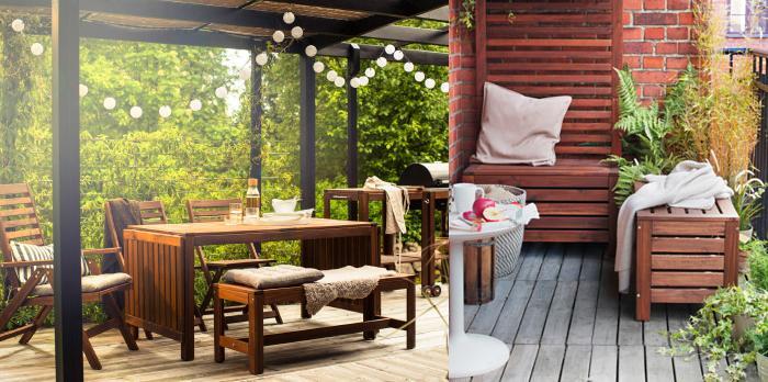 Jardin ikea meubles de jardin pas chers elle dcoration for Bancos de madera ikea