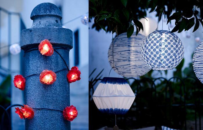 iluminacion decorativa ikea jardin
