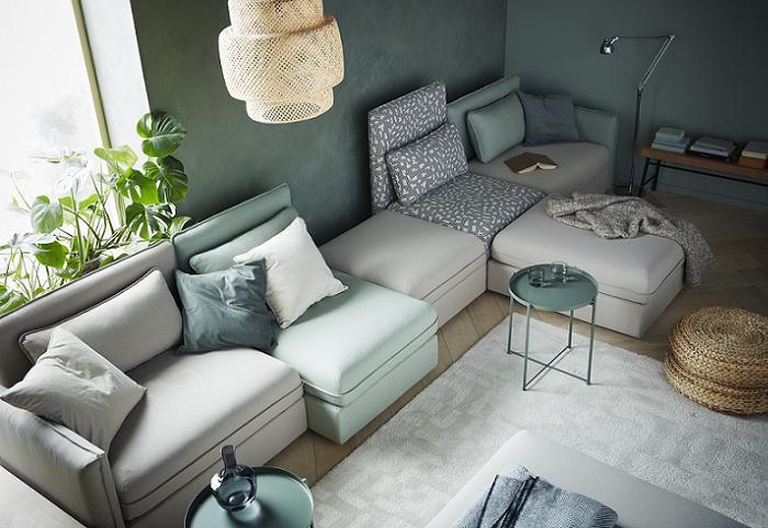 vallentuna sofa cama modular de ikea