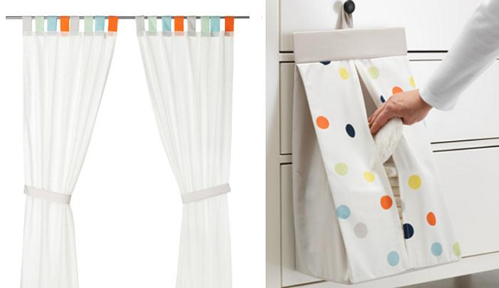 textiles ikea para bebes himmelsk cortinas portapañales