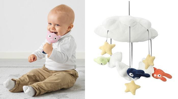textiles ikea para bebes himmelsk juguetes movil