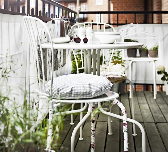 sillas de exterior ikea balcon