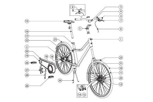 bicicleta para montar