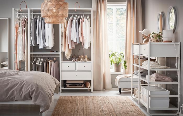 dormitorios ikea 2017 armarios abiertos