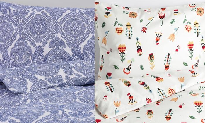 dormitorio de otoño con ikea fundas nordicas