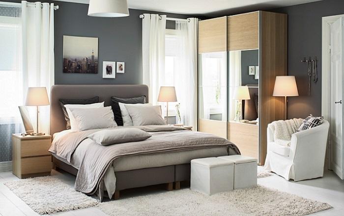 dormitorio de otoño con Ikea