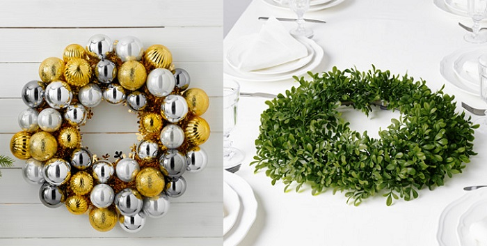 coronas para decorar de navidad con ikea tu casa