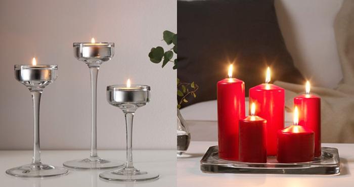 ideas para decorar de navidad velas candelabros
