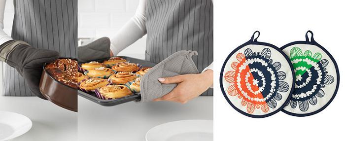 textiles de cocina ikea manoplas guantes para horno