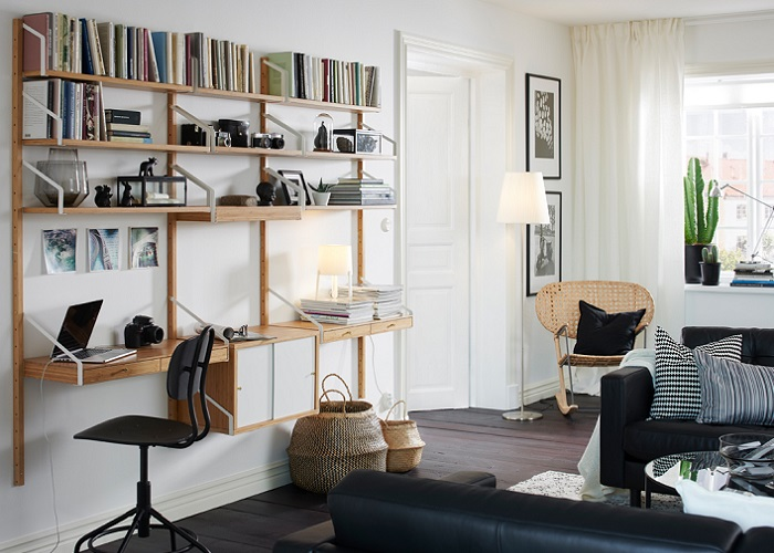 svalnas los nuevos estantes de pared ikea modulares. Black Bedroom Furniture Sets. Home Design Ideas