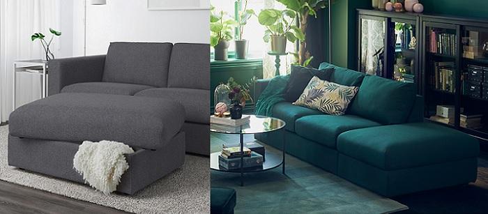 vimle el nuevo sofa personalizable de ikea reposapies