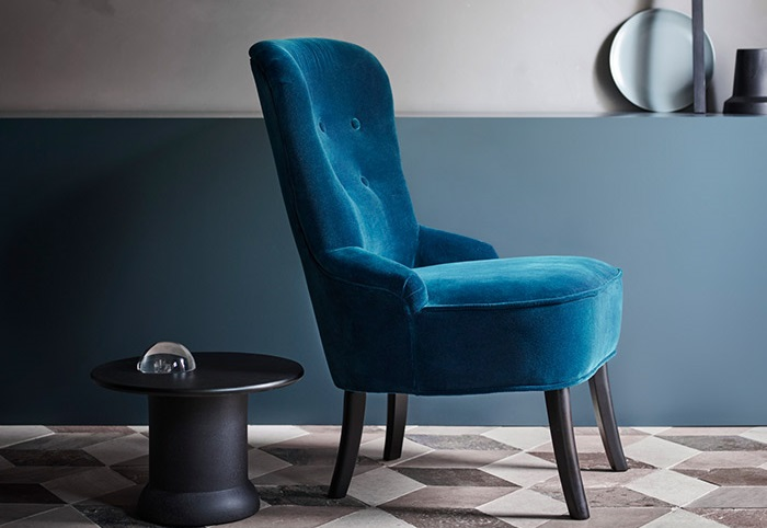 REMSTA, los nuevos sillones de terciopelo Ikea para un salón a la última