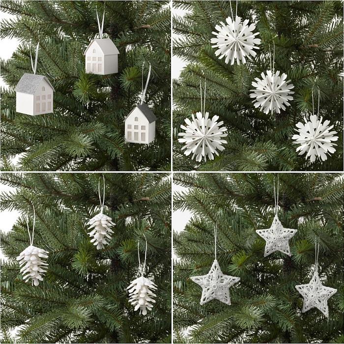 adornos navidad blancos