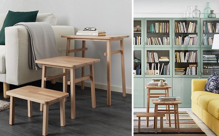 Nuevas mesas de centro nido ikea para tu sal n muy pr cticas for Mesas de centro salon ikea
