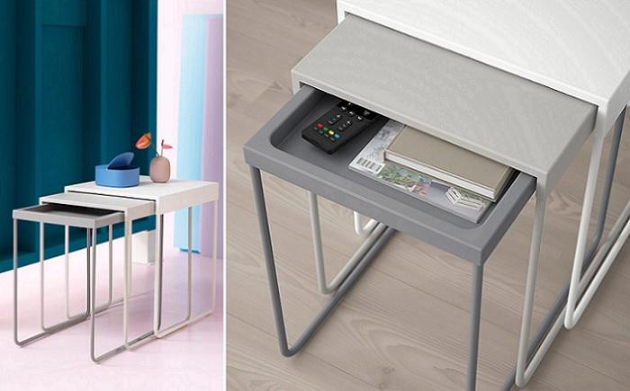 Nuevas mesas de centro nido ikea para tu sal n muy pr cticas for Ikea mesas salon centro
