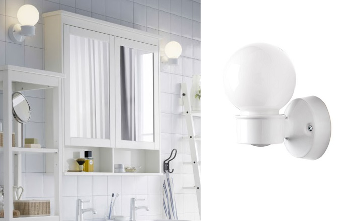 Elige los apliques de ba o ikea para iluminar tu lavabo for Apliques bano diseno