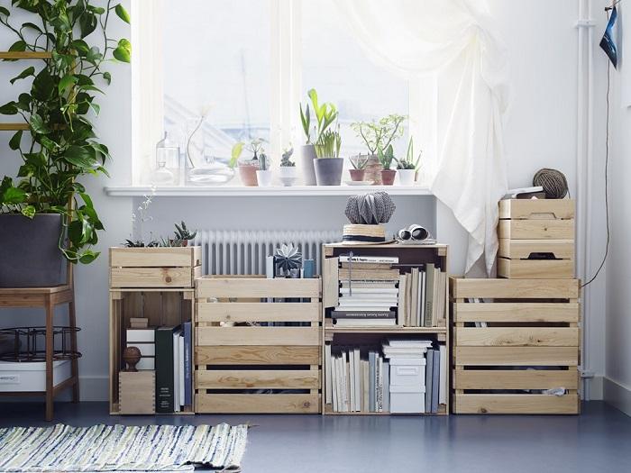Cajas de madera ikea
