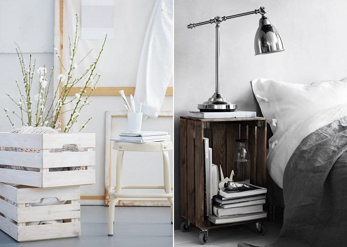 cajas IKEA de madera
