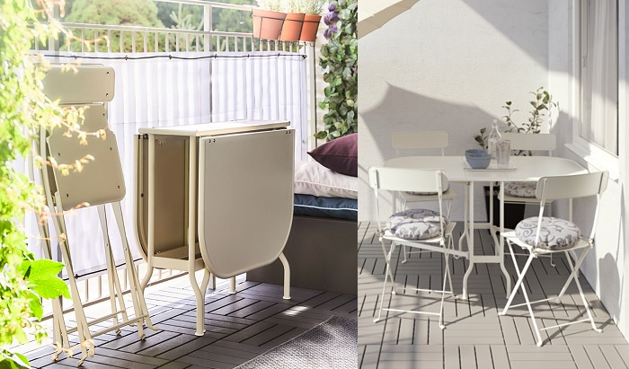 Lo mejorcito en mesas de terraza ikea para un comedor de for Terrazas pequenas ikea