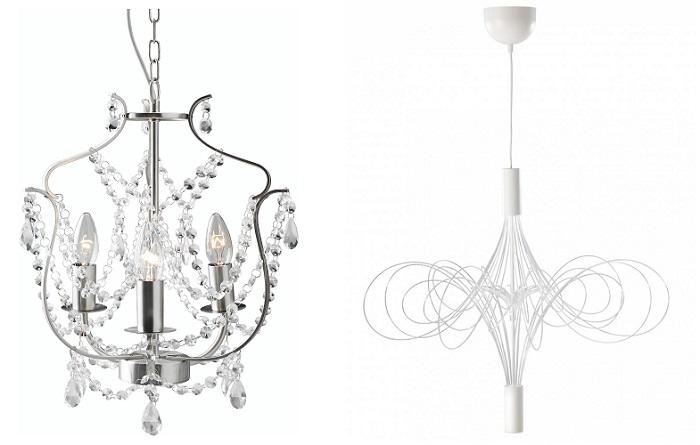 lámparas de araña ikea