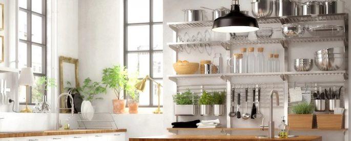 solución de almacenaje vertical de Ikea para la cocina: KUNGSFORS