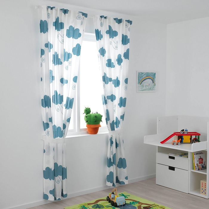 cortinas infantiles ikea DJUNGELSKOG