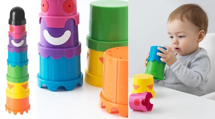 juguetes ikea para bebes cubos apilables