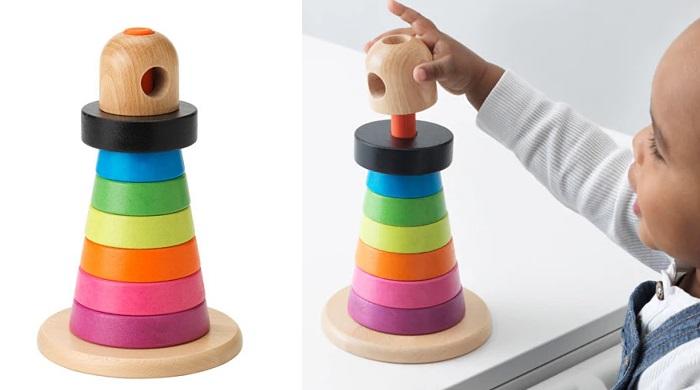 juguetes ikea para bebes piramide de anillos