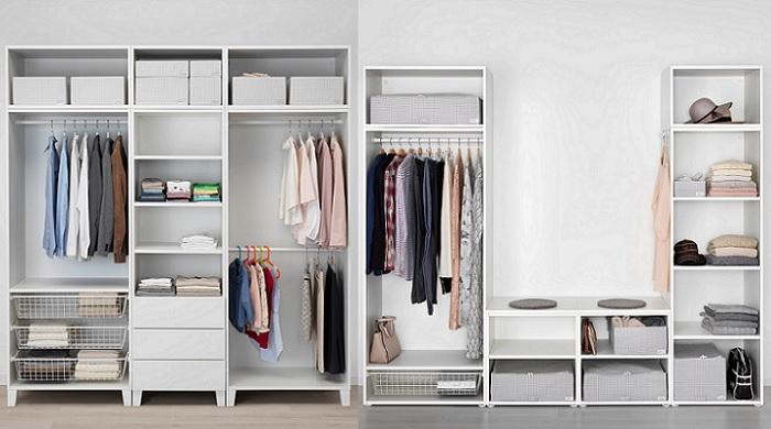 Los armarios abiertos ikea para crear un vestidor en tu dormitorio - Ikea armarios modulares ...