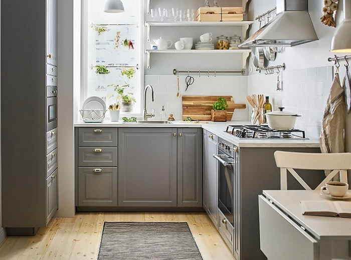 novedades en cocinas ikea 2019 gris rustica