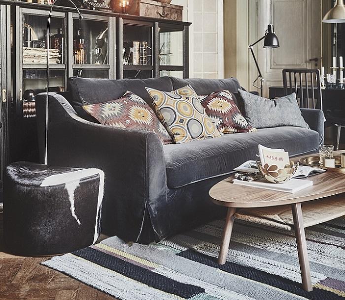 sofa terciopelo salones ikea 2019