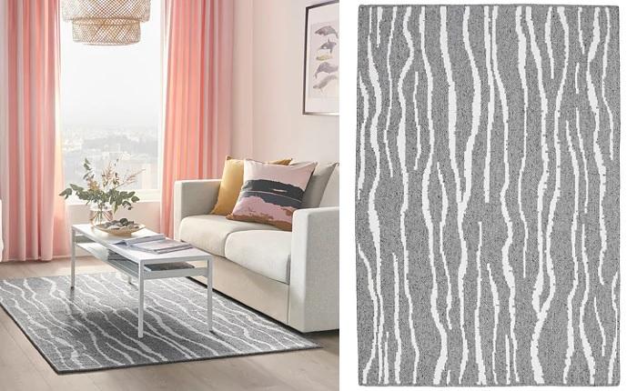 Las mejores alfombras baratas ikea para decorar tu sal n o comedor - Alfombras vinilicas baratas ...