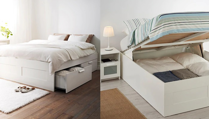 Ikea brimnes es ideal para tu dormitorio cama canap tocador div n - Cama canape abatible ...