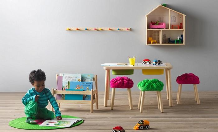 casa de muñecas ikea plisat