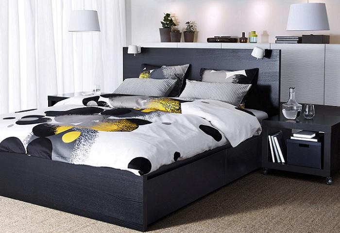 La cama malm ikea combina dise o moderno y un precio irresistible - Dormitorio malm ikea ...