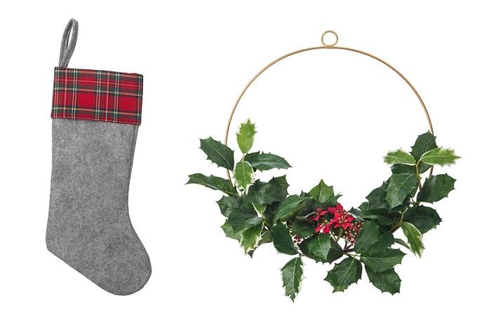 novedades adornos de navidad ikea calcetin corona