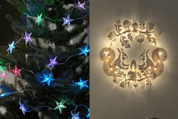 novedades adornos de navidad ikea guirnaldas lampara