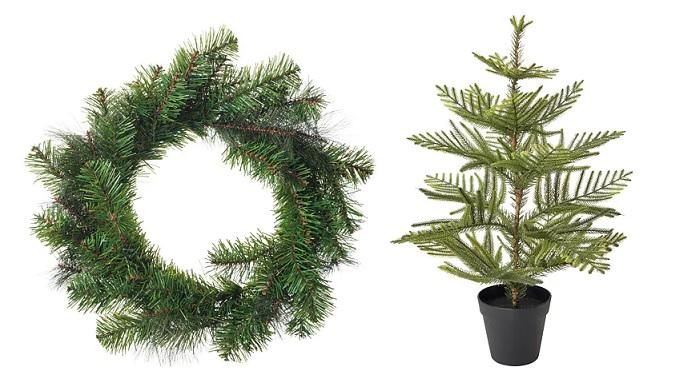 abetos para decorar tu mesa de navidad con ikea