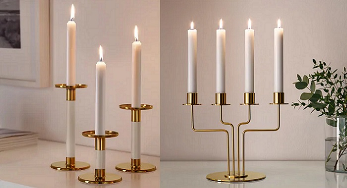 candelabros para decorar-tu mesa de navidad con ikea